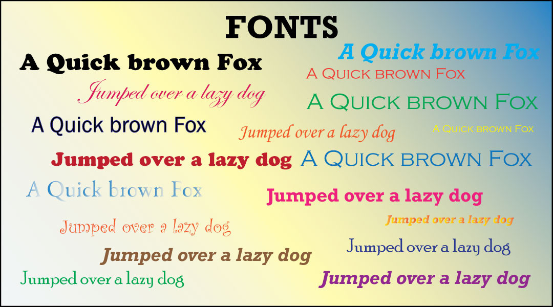 Top 5 Fonts for Print & Signs