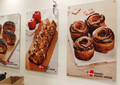 Danish Pastry House Posters on PVC mounted on stand offs
